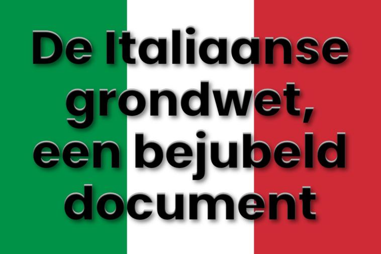 De Italiaanse grondwet