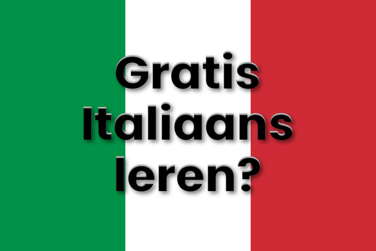 Gratis Italiaans leren - Gratis Italiaanse les - Gratis online cursus Italiaans
