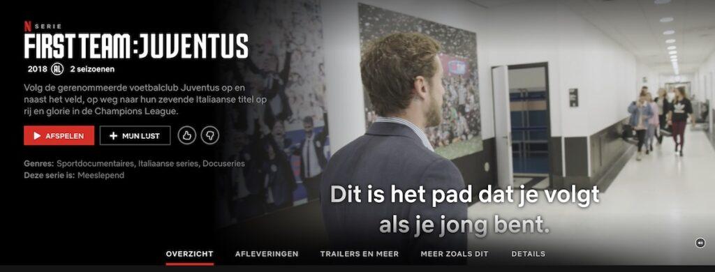 De Italiaanse serie First Team: Juventus op Netflix