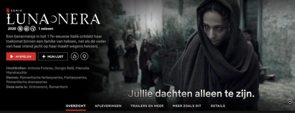De Italiaanse serie Luna nera op Netflix