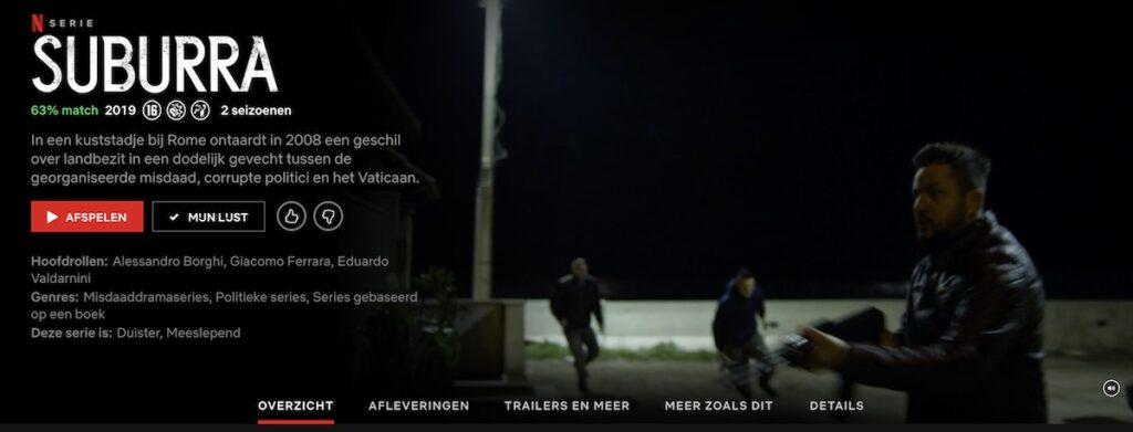 De Italiaanse serie Suburra op Netflix