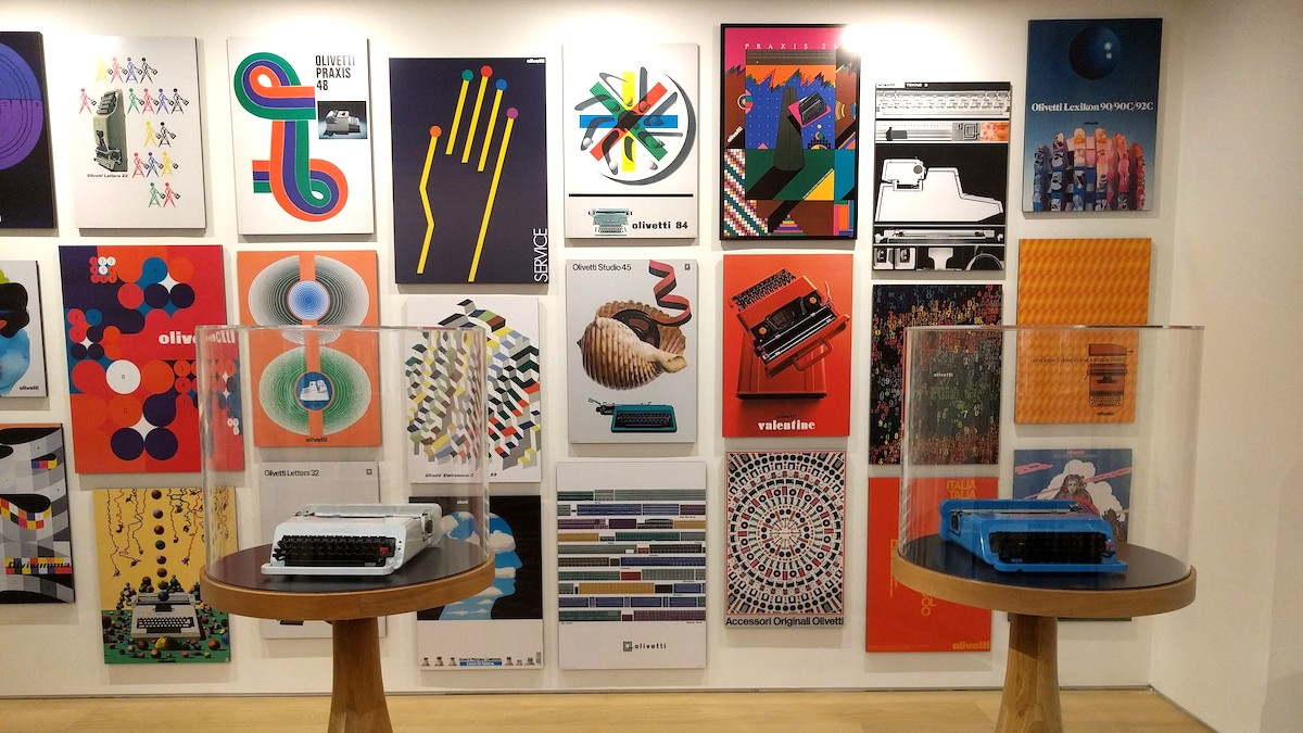 Olivetti in het Design Museum Londen