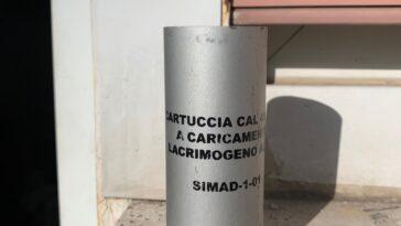 traangasgranaat gebruikt tijdens de G8 van 2001 in Genua